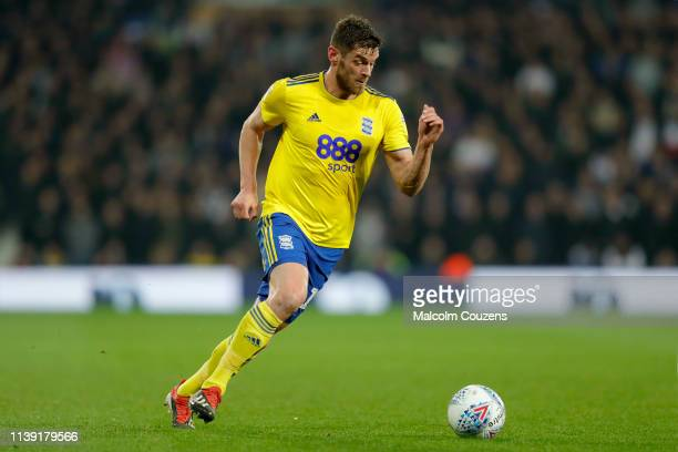 Lukas Jutkiewicz of Birmingham City runs with the ball during the Sky Bet Championship game at The Hawthorns on March 29, 2019 in West Bromwich,...