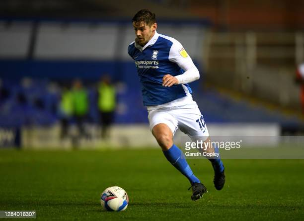 Lukas Jutkiewicz of Birmingham during the Sky Bet Championship match between Birmingham City and Wycombe Wanderers at St Andrew's Trillion Trophy...