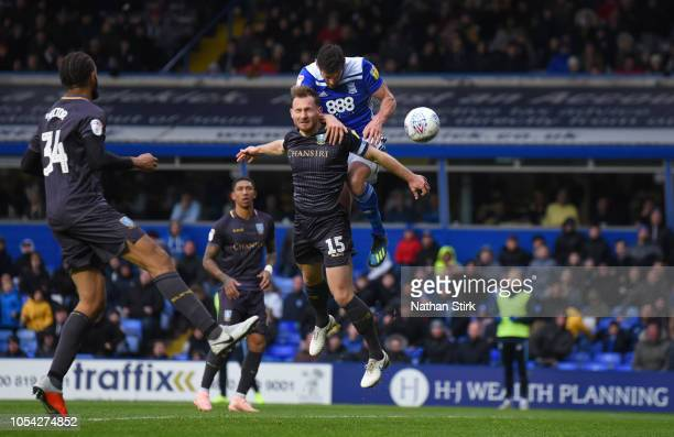 Lukas Jutkiewicz scores during the Sky Bet Championship match between Birmingham City and Sheffield Wednesday at St Andrew's Trillion Trophy Stadium...