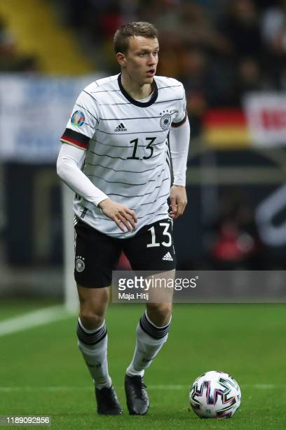 Lukas Klostermann of Germany controls the ball during the UEFA Euro 2020 Qualifier between Germany and Northern Ireland at Commerzbank Arena on...