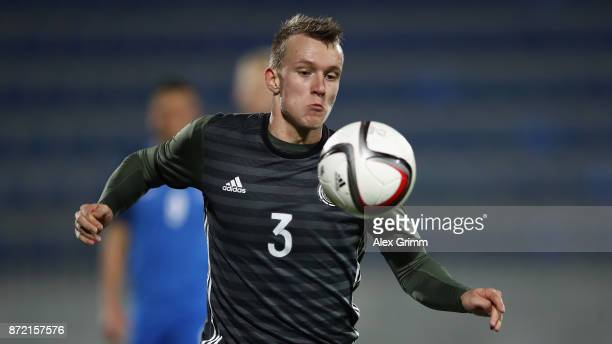 Lukas Klostermann of Germany controls the ball during the UEFA Under21 Euro 2019 Qualifier match between Azerbaijan U21 and Germany U21 at Dalga...