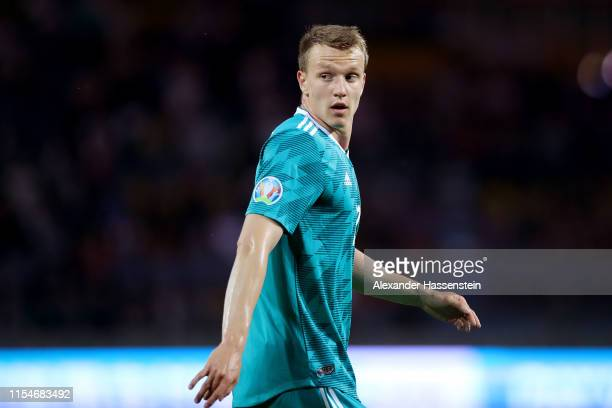 Lukas Klostermann of Germany looks on during the UEFA Euro 2020 qualifier match between Belarus and Germany at Borisov-Arena on June 08, 2019 in...