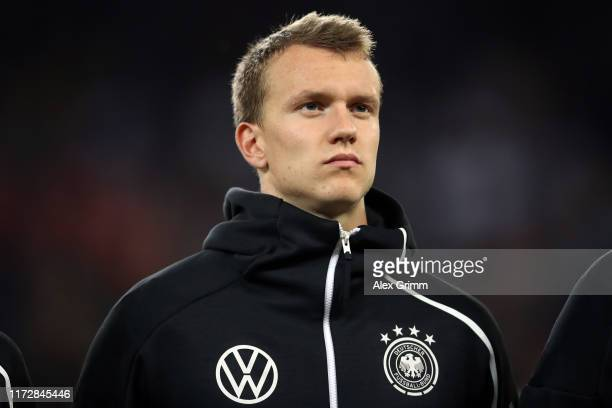 Lukas Klostermann of Germany looks on prior to the UEFA Euro 2020 qualifier match between Germany and Netherlands at Volksparkstadion on September...