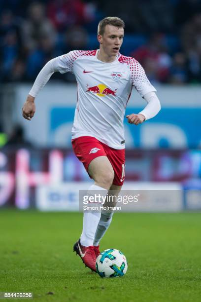 Lukas Klostermann of Leipzig controls the ball during the Bundesliga match between TSG 1899 Hoffenheim and RB Leipzig at Wirsol RheinNeckarArena on...
