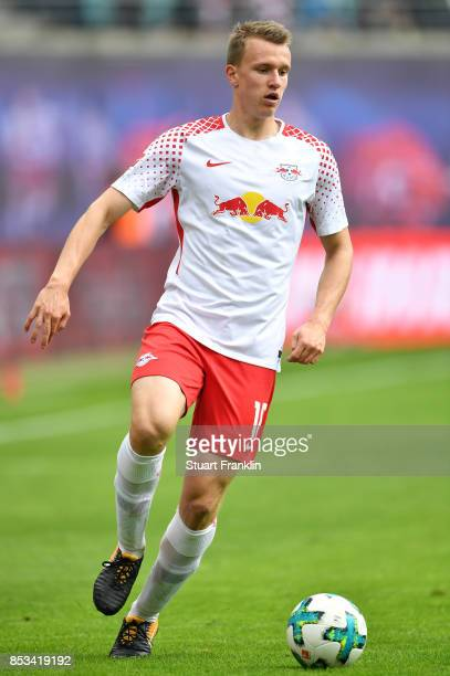 Lukas Klostermann of Leipzig in action during the Bundesliga match between RB Leipzig and Eintracht Frankfurt at Red Bull Arena on September 23 2017...