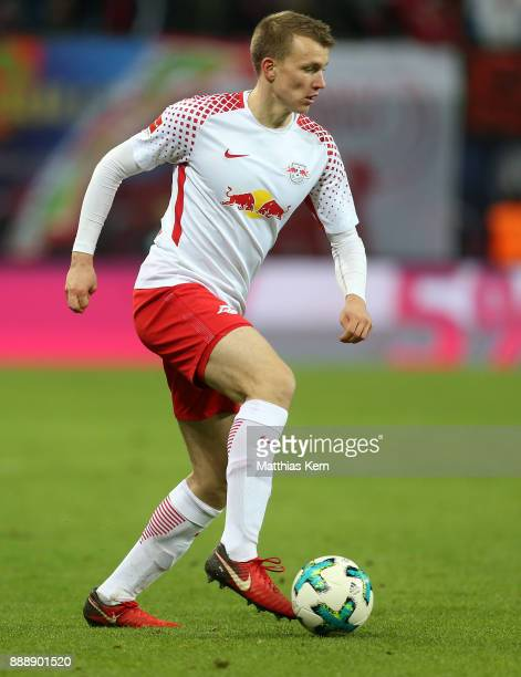 Lukas Klostermann of Leipzig runs with the ball during the Bundesliga match between RB Leipzig and 1FSV Mainz 05 at Red Bull Arena on December 9 2017...