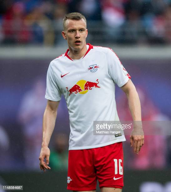 Lukas Klostermann of Leipzig seen during the Bundesliga match between RB Leipzig and FC Bayern Muenchen at Red Bull Arena on May 11, 2019 in Leipzig,...