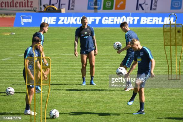 Niklas Stark of Hertha BSC during the training camp at the VolksparkStadion on july 16 2018 in Neuruppin Germany