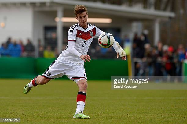 Lukas Kluenter of Germany controls the ball during the UEFA Under19 Elite Round match between Germany and Czech Republic on March 31 2015 in Walldorf...