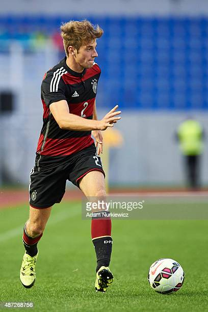 Lukas Kluenter of Germany U20 controls the ball during the International Friendly soccer match between Poland U20 and Germany U20 at OSiR Stadium on...