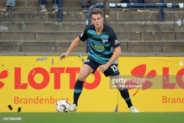 Lukas Kluenter of Hertha BSC during the friendly match between Hertha BSC and the SV Babelsberg 03 at the KarlLiebknechtStadion on october 11 2018 in...