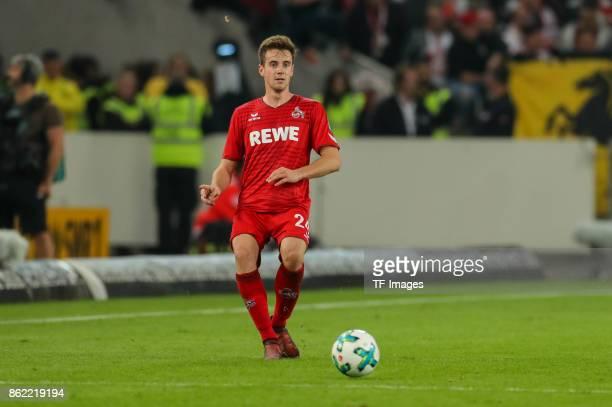 Lukas Kluenter of Koeln controls the ball during the Bundesliga match between VfB Stuttgart and 1 FC Koeln at MercedesBenz Arena on October 13 2017...