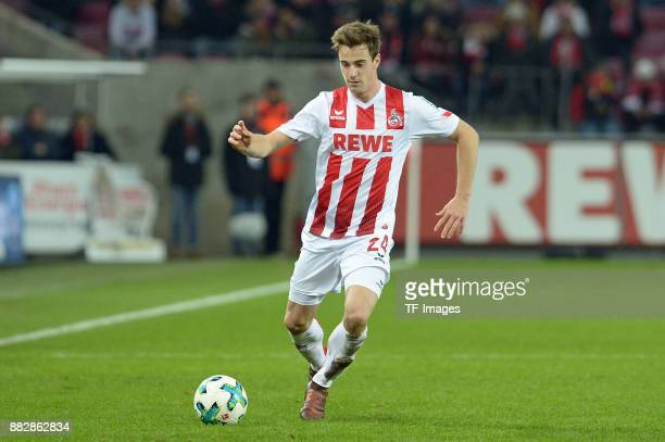 Lukas Kluenter of Koeln controls the ball during the Bundesliga match between 1 FC Koeln and Hertha BSC at RheinEnergieStadion on November 26 2017 in...