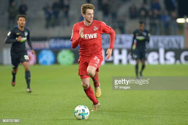 Lukas Kluenter of Koeln controls the ball during the HHotelscom Wintercup match between Hertha BSC and 1 FC Koeln at SchuecoArena on January 6 2018...