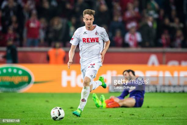 Lukas Kluenter of Koeln in action during the Bundesliga match between 1 FC Koeln and Werder Bremen at RheinEnergieStadion on May 5 2017 in Cologne...