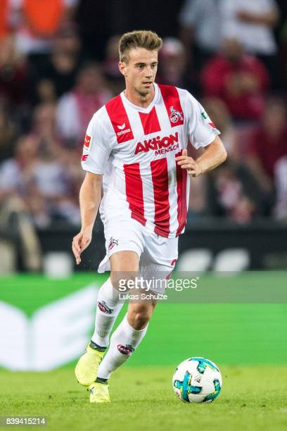 Lukas Kluenter of Koeln in action during the Bundesliga match between 1 FC Koeln and Hamburger SV at RheinEnergieStadion on August 25 2017 in Cologne...