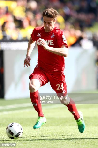 Lukas Kluenter of Koeln runs with the ball during the Bundesliga match between Borussia Dortmund and 1 FC Koeln at Signal Iduna Park on April 29 2017...