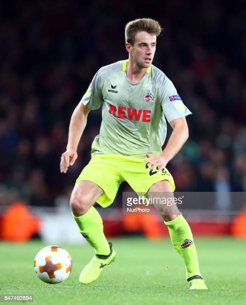 Lukas Klunter of 1FC Koln// during UEFA Europa League Group H match between Arsenal and 1FC Koln at The Emirates London 14 Sept 2017