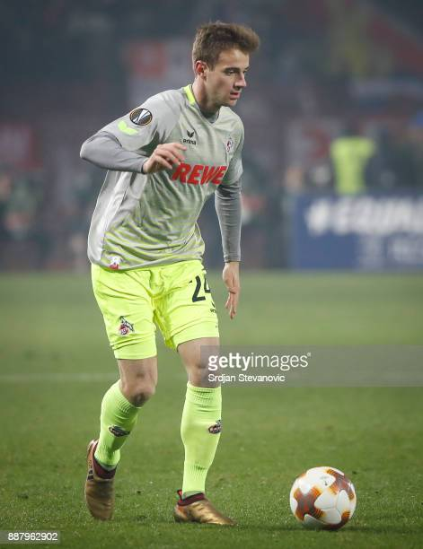 Lukas Klunter of FC Koeln in action during the UEFA Europa League group H match between Crvena Zvezda and 1 FC Koeln at stadium Rajko Mitic on...