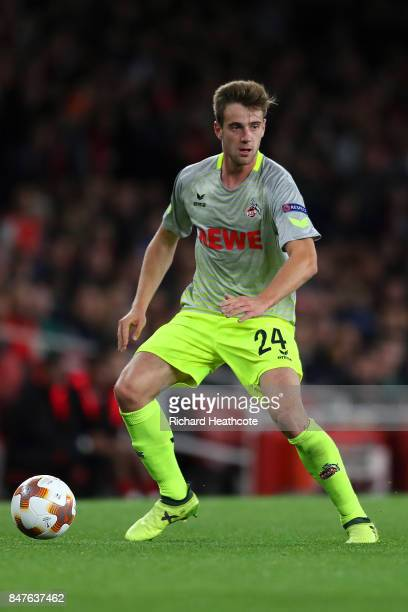 Lukas Klunter of Koeln in action during the UEFA Europa League group H match between Arsenal FC and 1 FC Koeln at Emirates Stadium on September 14...