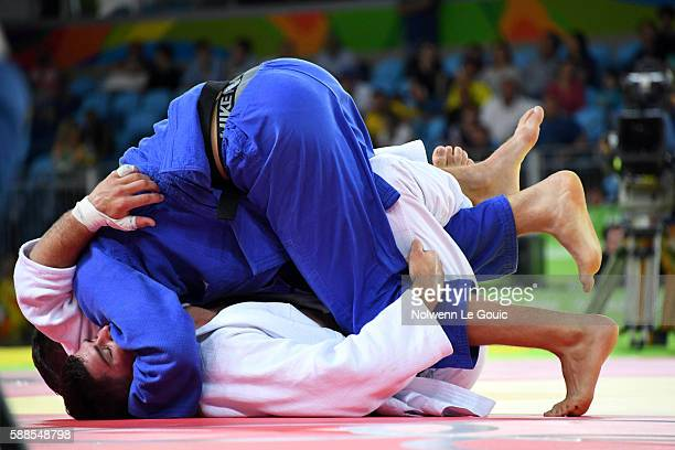 Lukas Krpalek against Cyrille Maret of France during semi final on 100kg during Judo on Olympic Games 2016 in Rio at Carioca Arena 2 on August 11...