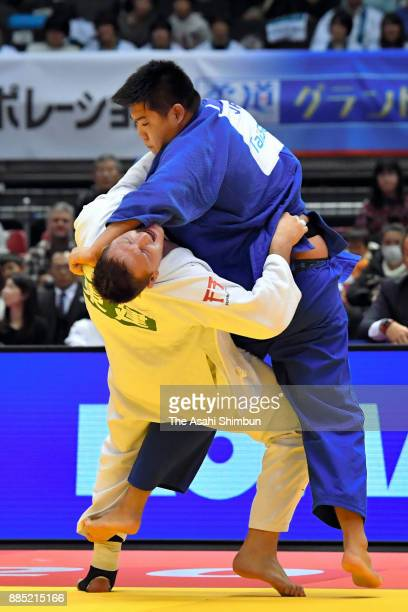 Lukas Krpalek of the Czech Republic and Yusei Ogawa of Japan compete in the Men's 100kg Final during day two of the Judo Grand Slam Tokyo at Tokyo...