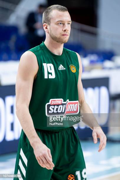 Lukas Lekavicius of Panathianikos Opap Athens during Turkish Airlines Euroleague match between Real Madrid and Panathinaikos Opap Athens at Wizink...
