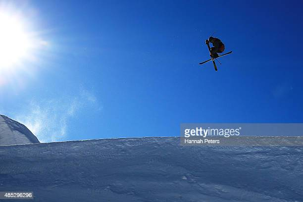 Lukas Muellauer of Austria competes in the FIS Freestyle Ski World Cup Slopestyle Qualification during the Winter Games NZ at Cardrona Alpine Resort...