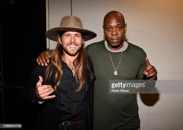 Lukas Nelson and Dave Chappelle attends the A Star Is Born premiere during 2018 Toronto International Film Festival at Roy Thomson Hall on September...