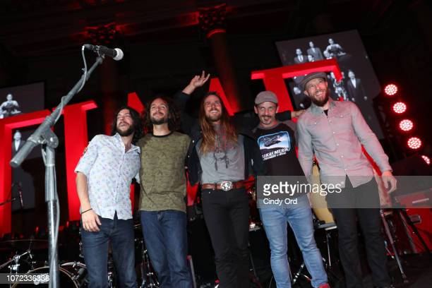 Lukas Nelson and his band during a curtain call onstage at the TIME Person Of The Year Celebration at Capitale on December 12 2018 in New York City