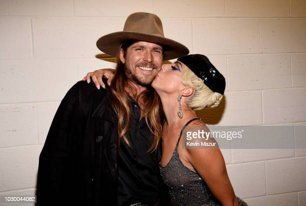 Lukas Nelson and Lady Gaga attends the A Star Is Born premiere during 2018 Toronto International Film Festival at Roy Thomson Hall on September 9...