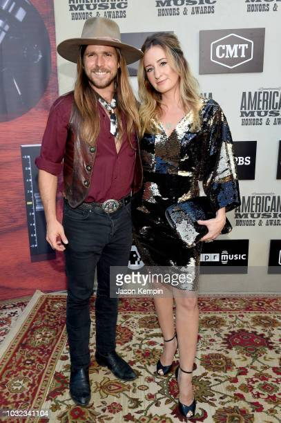 Lukas Nelson and Margo Price attend the 2018 Americana Music Honors and Awards at Ryman Auditorium on September 12 2018 in Nashville Tennessee
