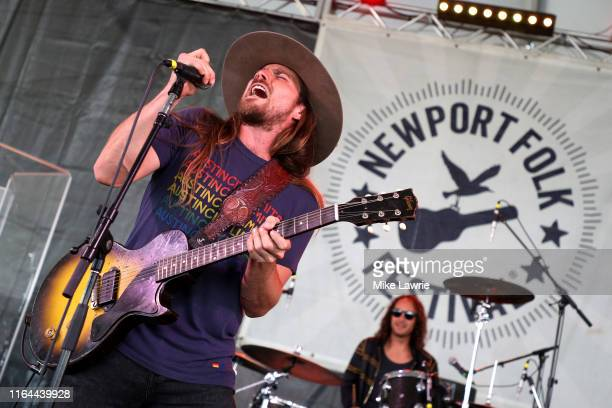 Lukas Nelson and Promise of the Real perform during day one of the 2019 Newport Folk Festival at Fort Adams State Park on July 26 2019 in Newport...