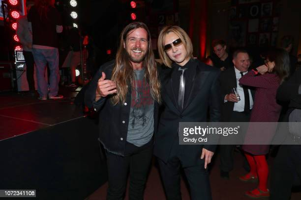 Lukas Nelson and Yoshiki attend the TIME Person Of The Year Celebration at Capitale on December 12 2018 in New York City