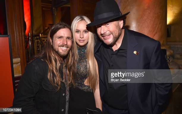 Lukas Nelson guest and Marc Benioff attend the TIME Person Of The Year Celebration at Capitale on December 12 2018 in New York City