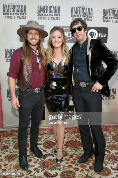 Lukas Nelson Margo Price and Jeremy Ivey attend the 2018 Americana Music Honors and Awards at Ryman Auditorium on September 12 2018 in Nashville...