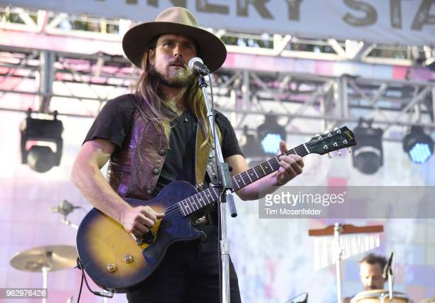 Lukas Nelson of Lukas Nelson the Promise of the Real performs during the 2018 BottleRock Napa Valley at Napa Valley Expo on May 26 2018 in Napa...