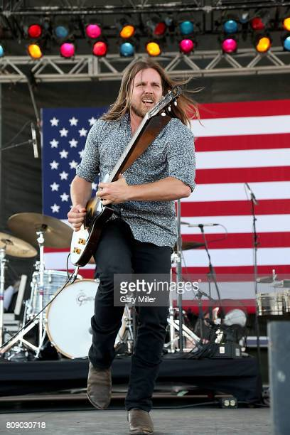 Lukas Nelson performs in concert with Promise of the Real during the annual Willie Nelson 4th of July Picnic at the Austin360 Amphitheater on July 4,...