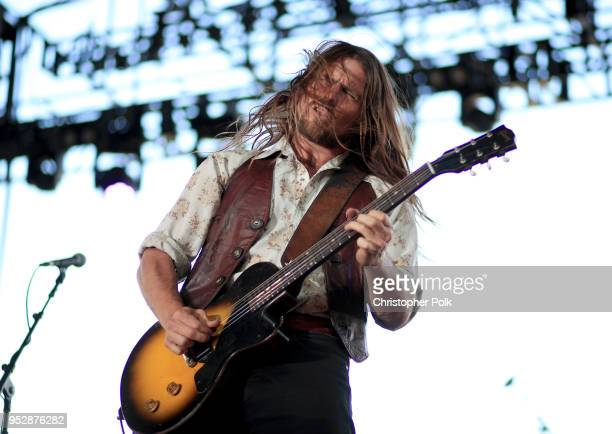 Lukas Nelson performs onstage during 2018 Stagecoach California's Country Music Festival at the Empire Polo Field on April 29 2018 in Indio California
