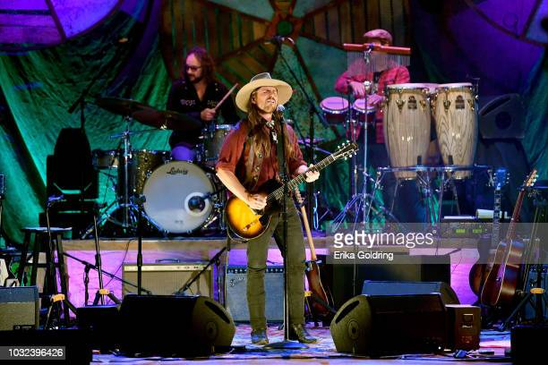 Lukas Nelson performs onstage during the 2018 Americana Music Honors and Awards at Ryman Auditorium on September 12 2018 in Nashville Tennessee