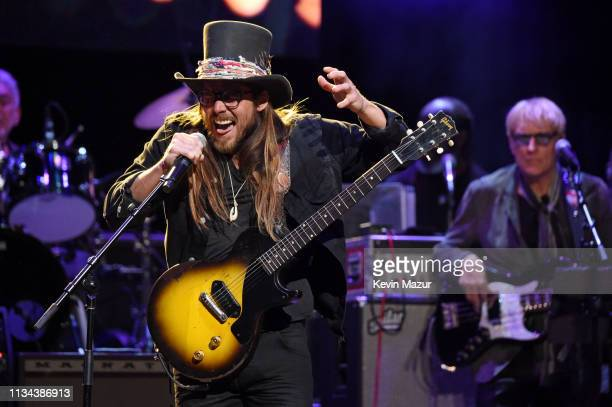 Lukas Nelson performs onstage during the Third Annual Love Rocks NYC Benefit Concert for God's Love We Deliver on March 07 2019 in New York City