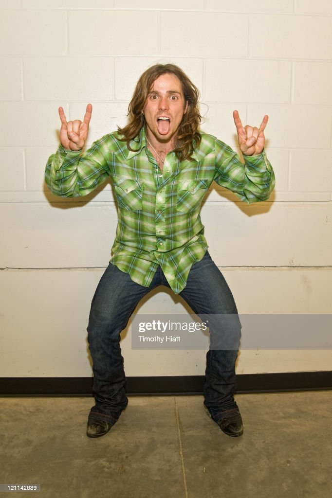 Lukas Nelson poses backstage during Farm Aid 2011 at the LiveStrong Sporting Park on August 13, 2011 in Kansas City, Kansas.