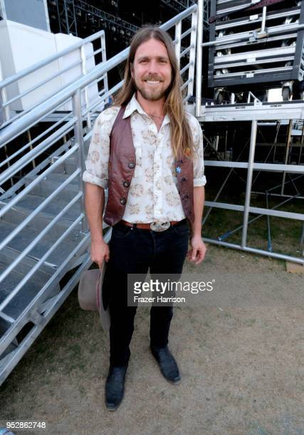 Lukas Nelson poses onstage during 2018 Stagecoach California's Country Music Festival at the Empire Polo Field on April 29 2018 in Indio California