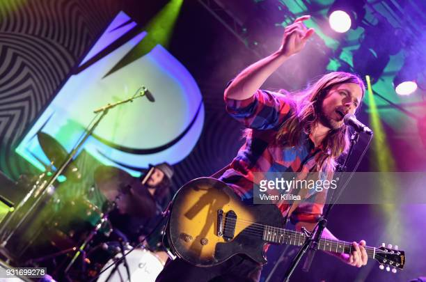 Lukas Nelson The Promise of Real perform onstage during Pandora SXSW 2018 on March 13 2018 in Austin Texas