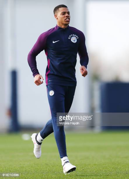 Lukas Nmecha during training at Manchester City Football Academy on February 9 2018 in Manchester England