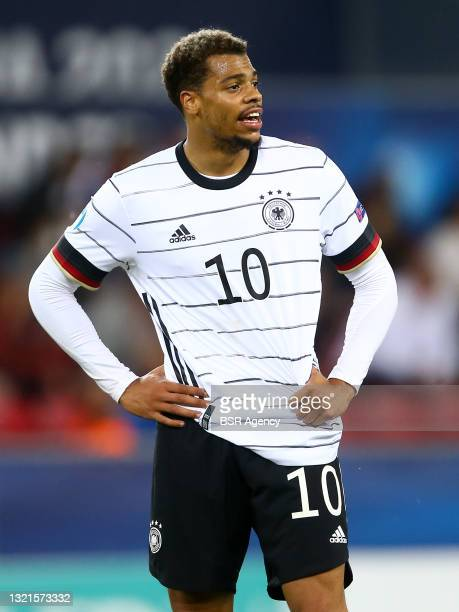 Lukas Nmecha of Germany U21 during the 2021 UEFA European Under-21 Championship Semi-Finals match between Netherlands and Germany at MOL Arena Sosto...