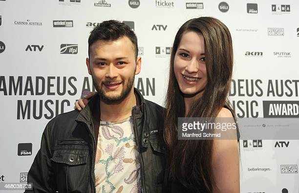Lukas Ploechl poses for a photograph during the Amadeus Austrian Music Awards 2015 at Volkstheater on March 29 2015 in Vienna Austria