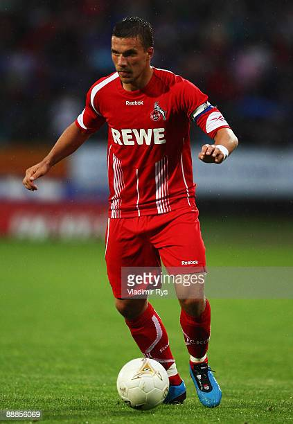 Lukas Podolski of Koeln in action during a friendly match between TuS Koblenz and 1 FC Koeln at Oberwerth stadium on July 6 2009 in Koblenz am Rhein...
