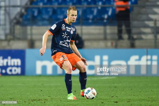 Lukas Pokorny of Montpellier during the French Ligue 1 match between Montpellier and Saint Etienne at Stade de la Mosson on February 19 2017 in...