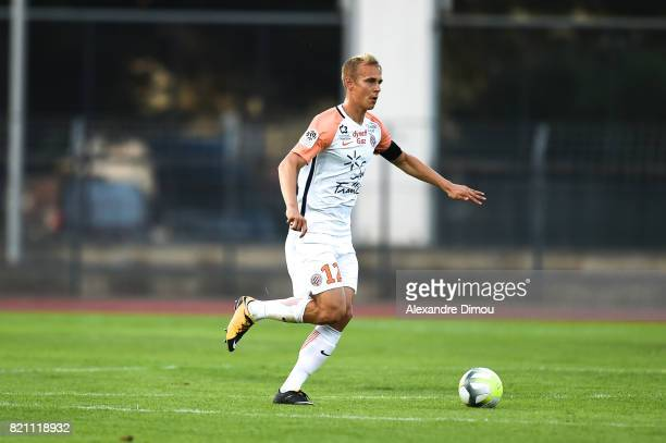 Lukas Pokorny of Montpellier during the friendly match between Montpellier Herault and Toulouse Fc on July 22 2017 in Narbonne France